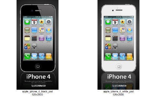 Apple iPhone 4 Black & White - 2 PSD
