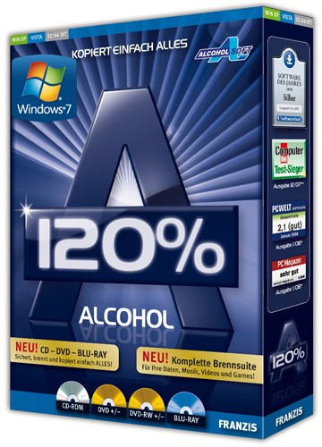 Alcohol 120% 2.0.1.2033 Retail (Версия от 14.10.2011!)